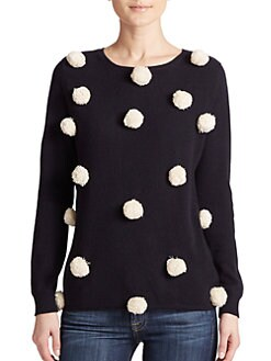 Chinti and Parker - Pom-Pom Cashmere Sweater