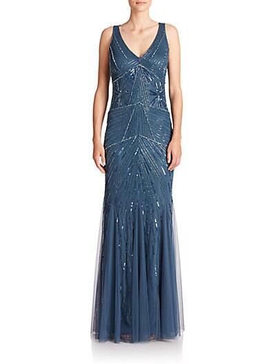 Embellished Godet Gown $136.20 AT vintagedancer.com
