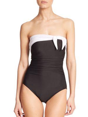 One-Piece Bandeau Swimsuit plus size,  plus size fashion plus size appare