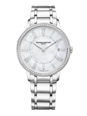 Classima 10227 Diamond, Mother-Of-Pearl & Stainless Steel Bracelet Watch