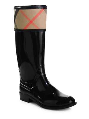 Crosshill Check Rain Boots