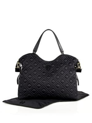 tory burch female 188971 marion quilted nylon baby bag