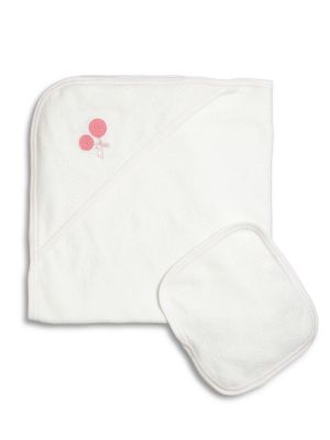 Baby's Lollipop-Motif Towel & Wash Cloth Set