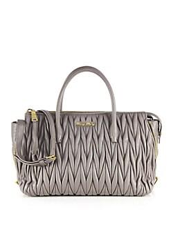 prada brown leather messenger bag - Miu Miu | Handbags - Handbags - Saks.com
