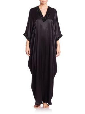 Timana Silk Charmeuse Caftan plus size,  plus size fashion plus size appare