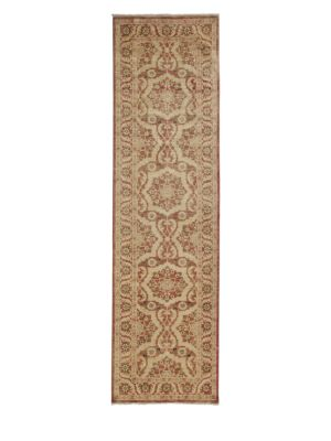 Oushak Collection Star Floral Wool Runner Rug