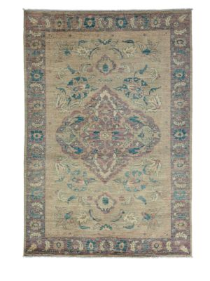 Traditional Oushak Hand-Knotted Wool Area Rug