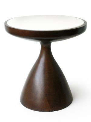 Buenos Aires Walnut Wood & Marble Side Table/Small