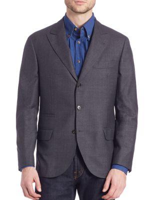 Solid Wool Blazer
