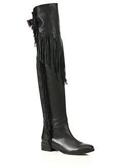 465dcc7a69b See by Chloe Epona Fringe Leather Over-The-Knee Boots from Saks ...