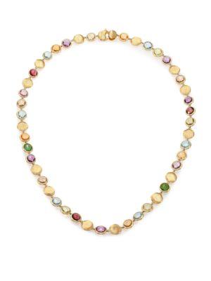 Jaipur Semi-Precious Multi-Stone & 18K Yellow Gold Strand Necklace