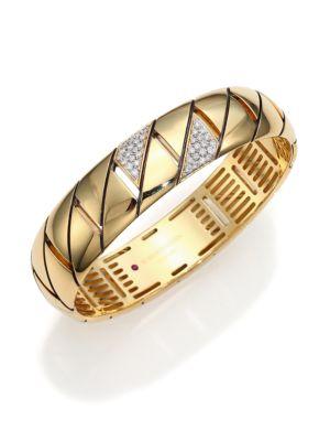 Appassionata Diamond & 18K Yellow Gold Bangle Bracelet