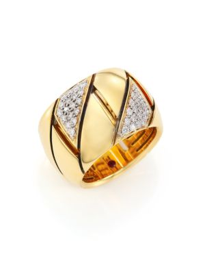 Appassionata Diamond, 18K Yellow Gold & 18K White Gold Ring