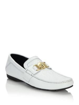 Vanitas Stitched Leather Loafers