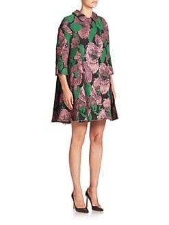 Erdem - Kira Floral Brocade Swing Coat