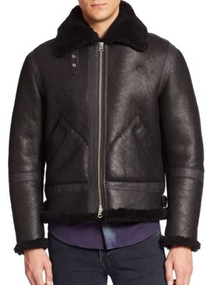Lamb Leather & Shearling Aviator Jacket