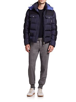 Moncler - Dimier Mixed Media Puffer Jacket