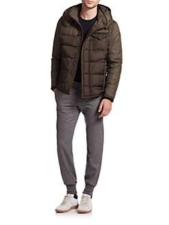 Moncler - Ryan Mixed-Media Puffer Jacket