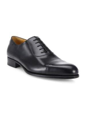A. TESTONI Leather Cap Toe Oxfords