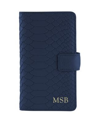 Personalized Python-Embossed Leather iPhone 6 Case & Wallet