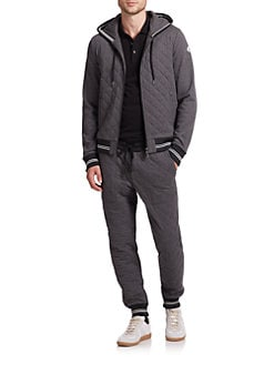 Moncler - Maglia Quilted Banded Cotton Hoodie