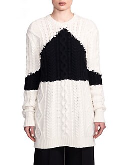Valentino - Wool & Cashmere Oversized Cable Sweater