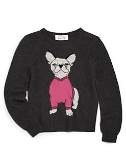Autumn Cashmere - Girl's Cashmere French Bulldog Sweater