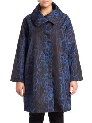 Printed Jane Coat plus size,  plus size fashion plus size appare