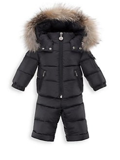 Moncler - Baby's Two-Piece Mauger Snow Jacket & Pants Set