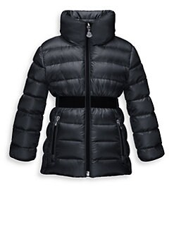 Moncler - Girl's Tacly Belted Puffer Jacket