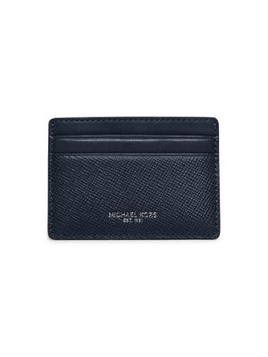 michael kors male embossed leather card case