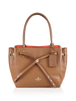 COACH - Turnlock Tie Small Leather Tote