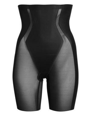 Haute Contour High-Waist Mid-Thigh Shorts
