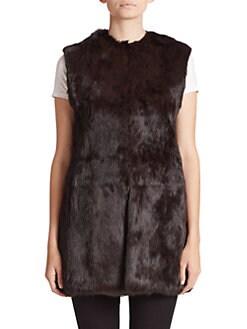 Adrienne Landau - Oversized Rabbit Fur Vest