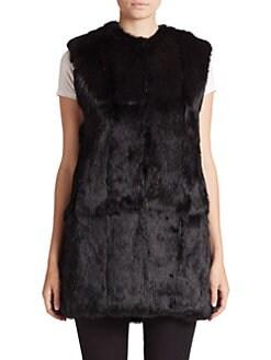 Adrienne Landau - Rabbit Fur Vest