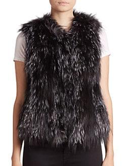 Adrienne Landau - Fox Fur Vest <br>