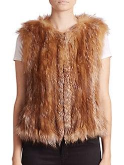 Adrienne Landau - Fox Fur Vest