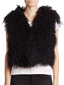 Adrienne Landau - Mongolian Lamb Fur Vest <br>