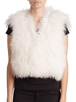 Adrienne Landau - Mongolian Lamb Fur Vest