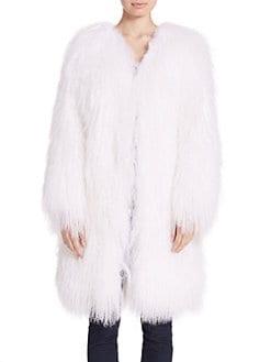 Adrienne Landau - Mongolian Lamb Fur Coat