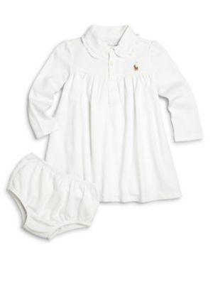 Baby's Two-Piece Polo Dress & Bloomers Set