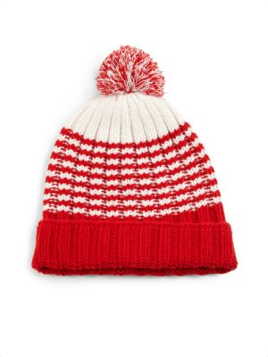 Knit Wool Pom-Pom Hat