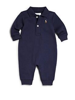 폴로 랄프로렌 남아용 아기 커버올 우주복 Polo Ralph Lauren Baby Boys Polo Coverall,French Navy
