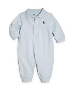 폴로 랄프로렌 남아용 아기 커버올 우주복 Polo Ralph Lauren Baby Boys Polo Coverall,Blue