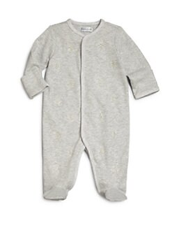 폴로 랄프로렌 여자 아기용 우주복 Polo Ralph Lauren Babys Cotton Interlock Footie,Grey