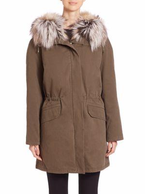 Cotton Fox Fur-Trimmed Parka