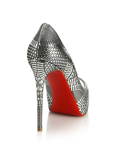 2d97d2de8686 black spiked christian louboutin - Prada Laser Cut Patent Leather Peeptoe  Pumps in Gray (black. 0400087512519 A1 396x528.jpg