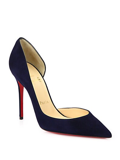 Iriza Suede Point-Toe Pumps