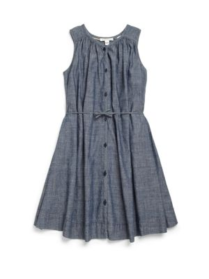 Little Girls  Girls Chambray Shirtdress