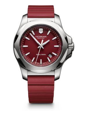 Maverick Inox Stainless Steel & Rubber Watch